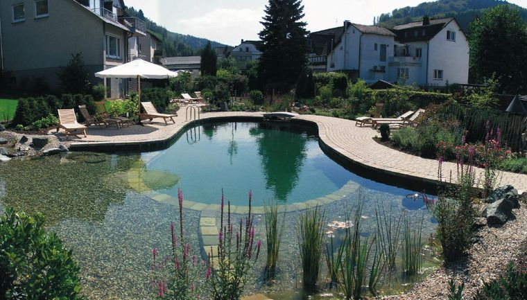 piscina natural grava