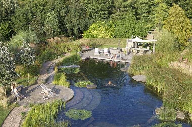 piscina natural jardin