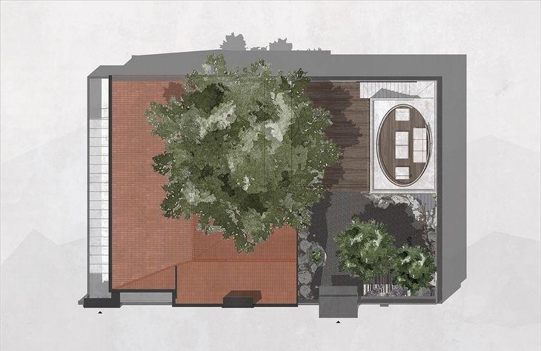 proyecto plano vista aerea casa escondida
