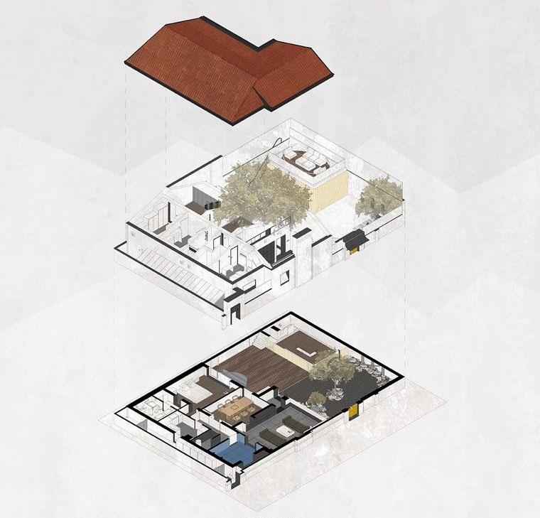 proyecto planos casa escondida