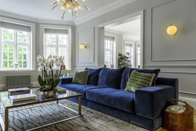 Sala de estar moderna-sofa-azul
