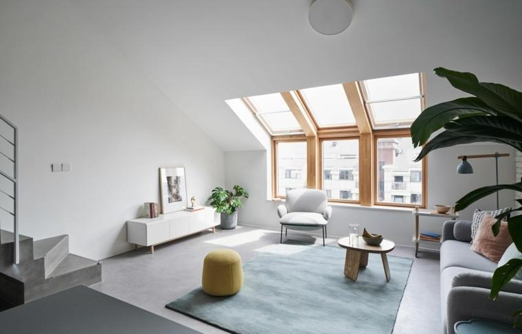 Sala de estar moderna -sofa-ventanas
