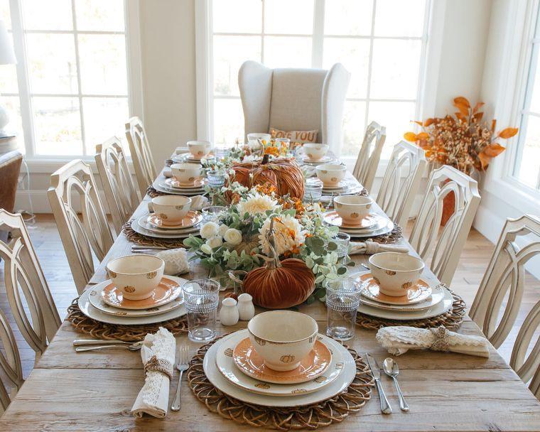 salón comedor elegante otoño