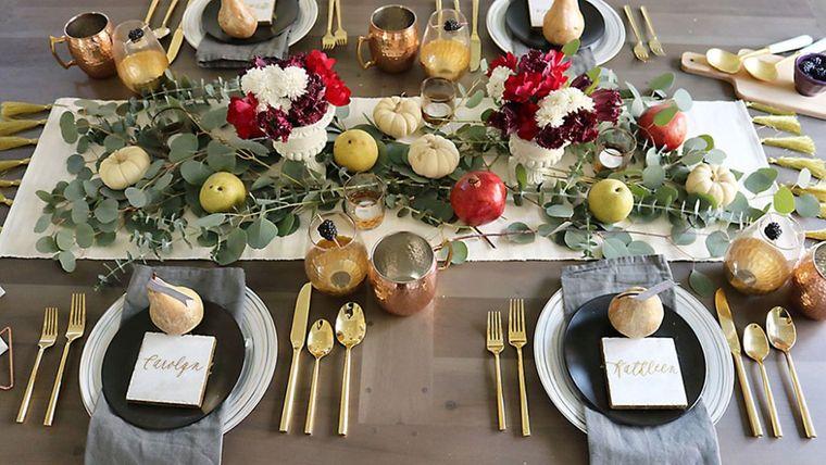 salón comedor en otoño