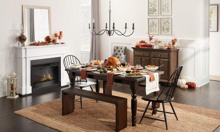 salón comedor ideas para otoño