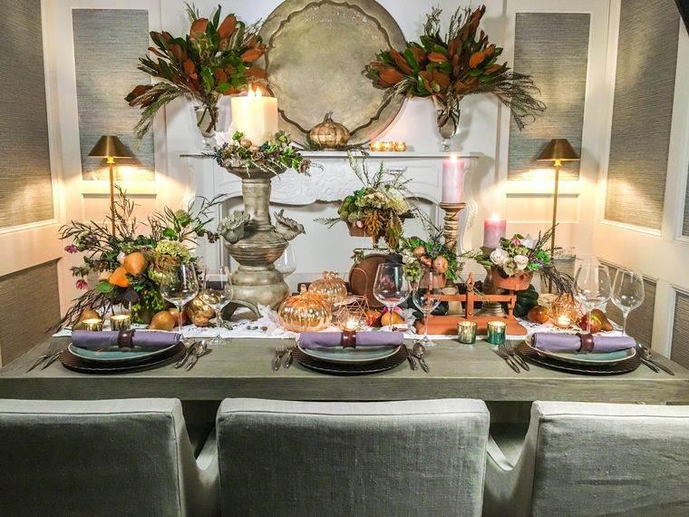 salón comedor llamativo otoño