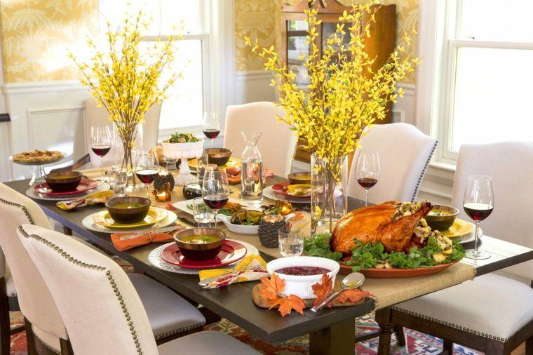 salón comedor otoño cena