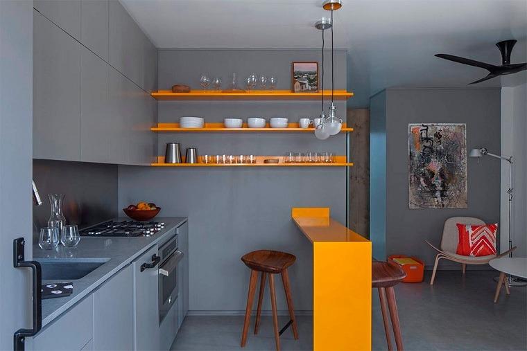 cocina-gris-toques-amarillo-diseno-ideas