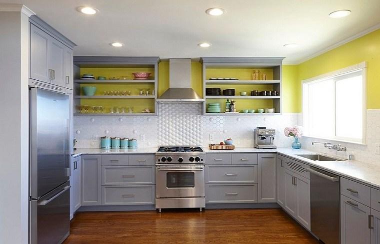 Cocinas color amarillo-gris-ideas-pintar-pared