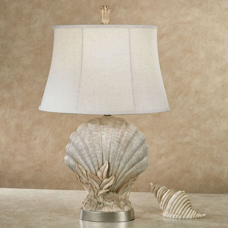 conchas marinas base lampara