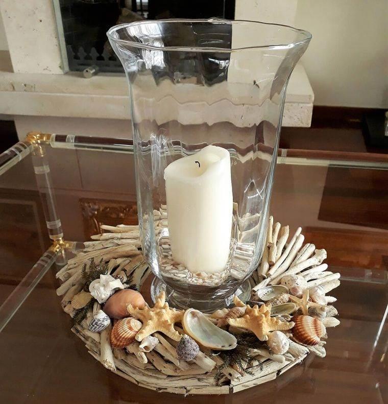 conchas marinas centro de mesa