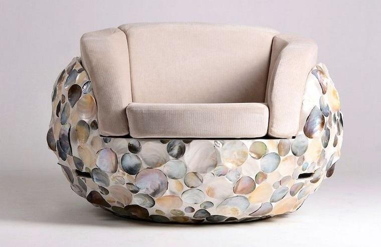 conchas marinas diseño sillon