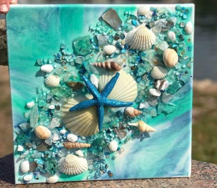 conchas marinas en cuadros