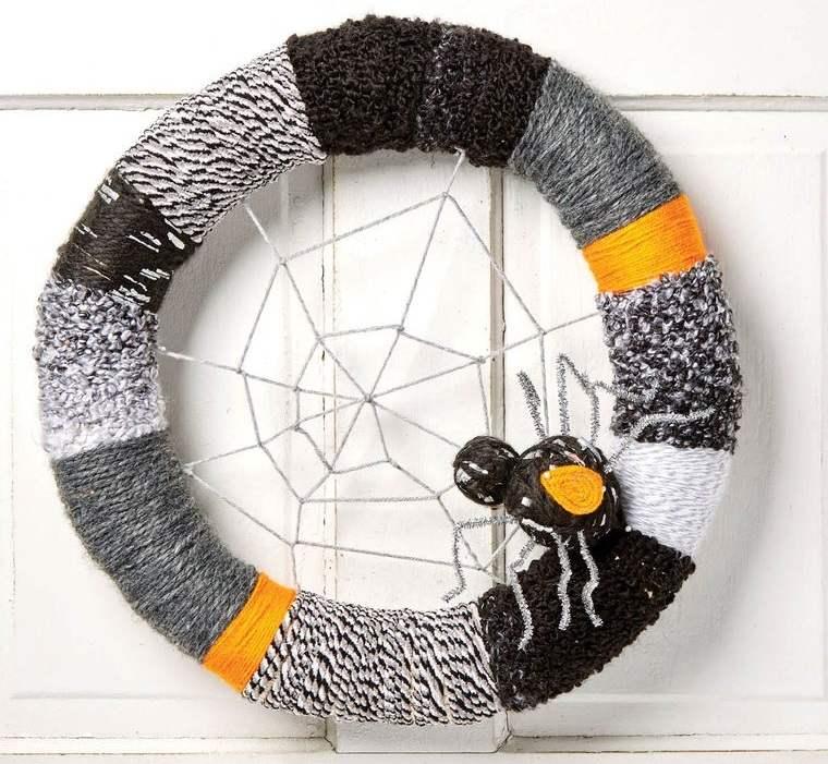 corona hilo gris negro