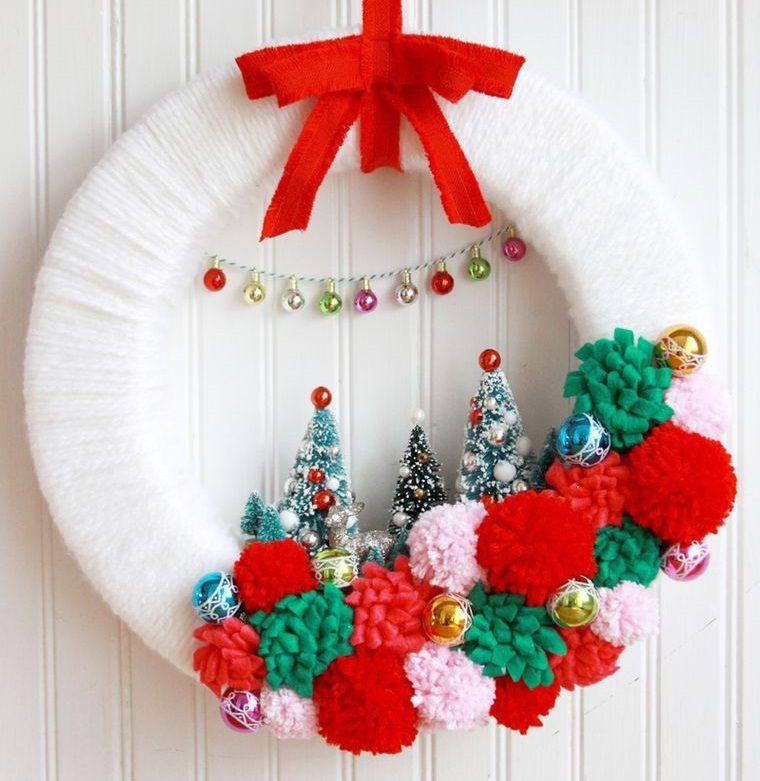 corona hilo navideña detalles