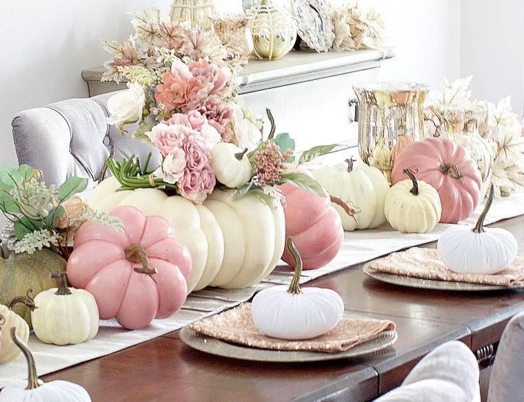 decoración de mesas de comedor acogedora