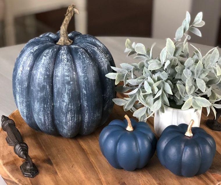 decoración de mesas de comedor azul