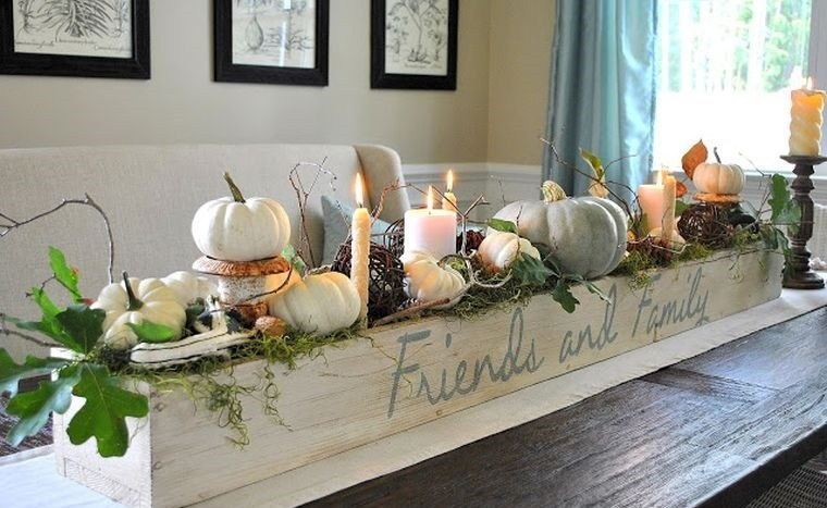 decoración de mesas de comedor caja madera