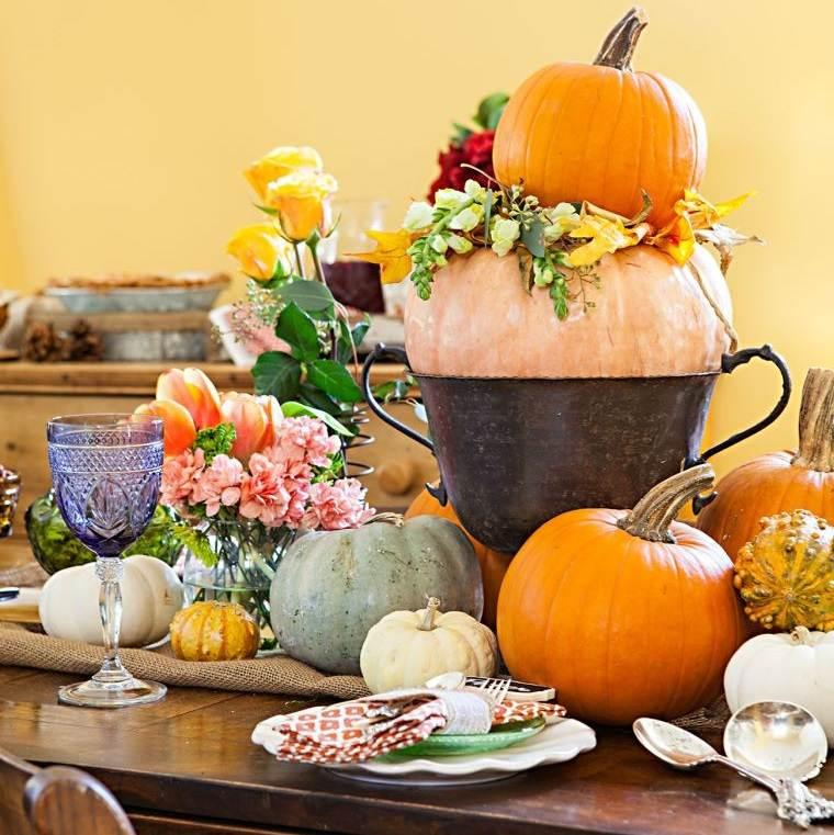 decoración de mesas de comedor con alturas