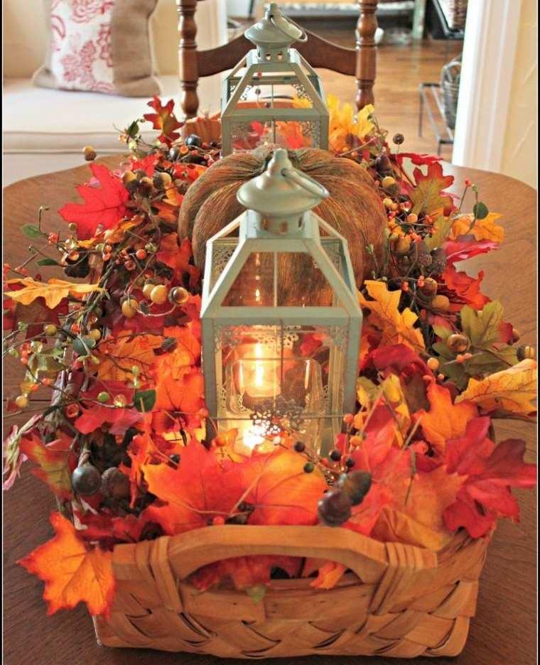 decoración de mesas de comedor con linternas