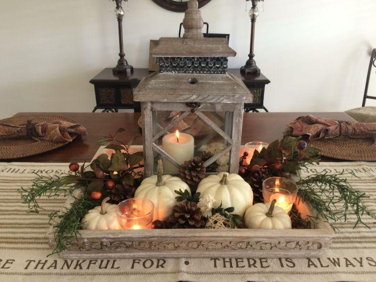decoración de mesas de comedor linterna
