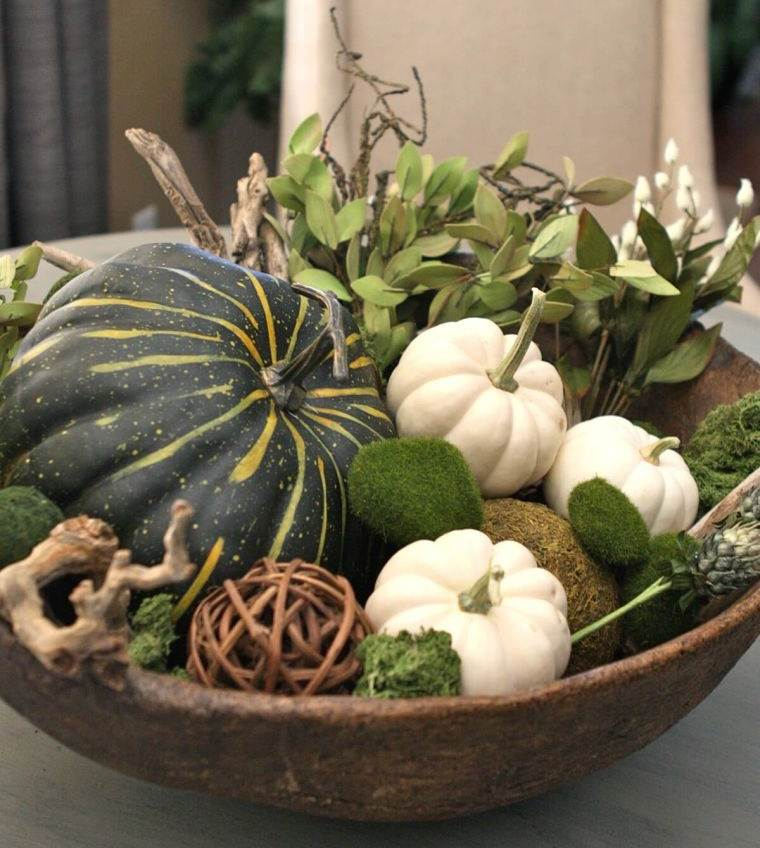 decoración de mesas de comedor natural