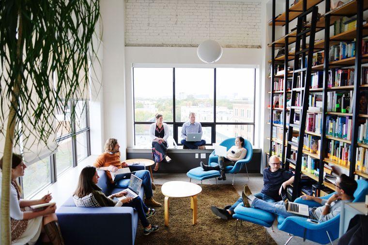 diseño de interiores en oficina