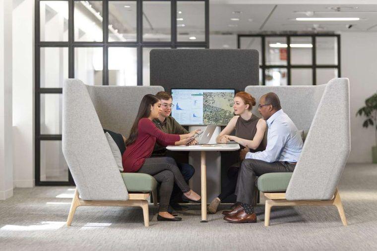 diseño de interiores oficinas futuro