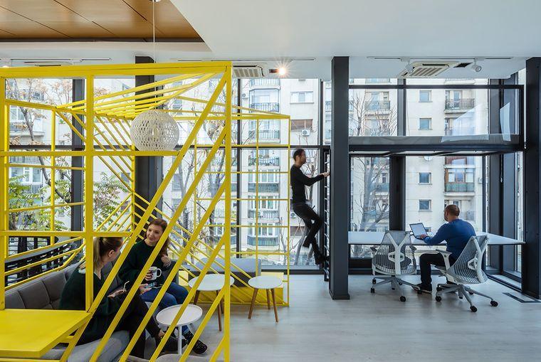 diseño de interiores oficinas modernas