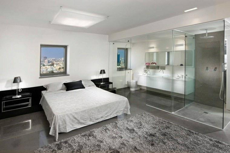 dormitorio con baño -dos-lavabos