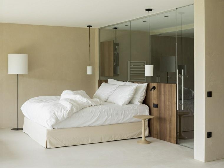dormitorio con baño estilo-diseno