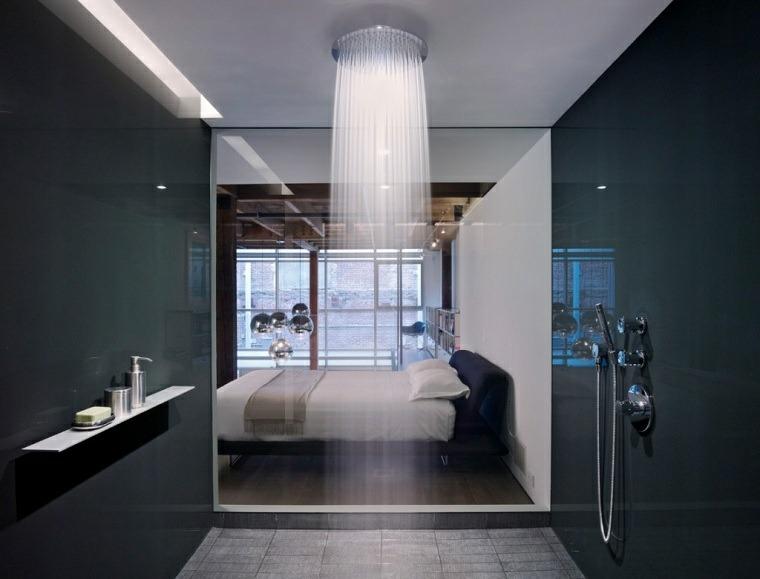 dormitorio-con-ducha-techo-ideas