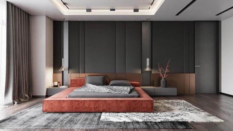 dormitorio-negro-roja