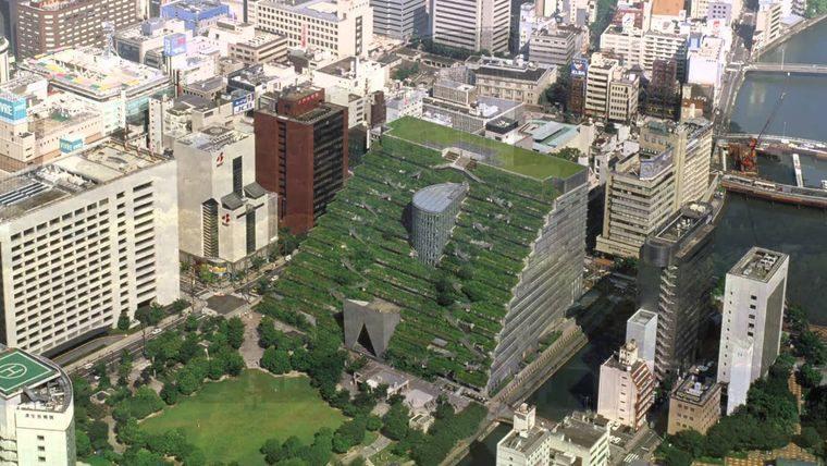 edificios ecológicos across en fukuoka