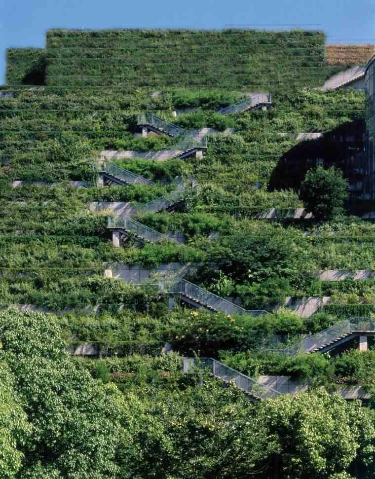 edificios ecológicos across jardines