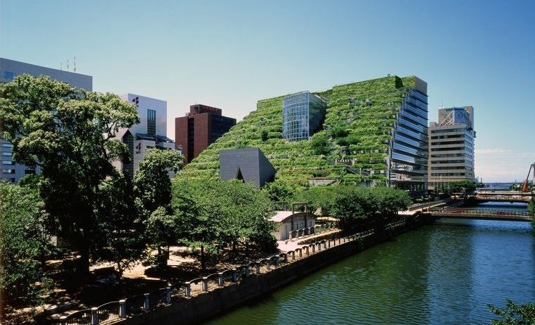 edificios ecológicos en fukuoka
