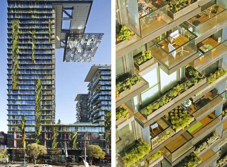 edificios ecológicos one central park jardines