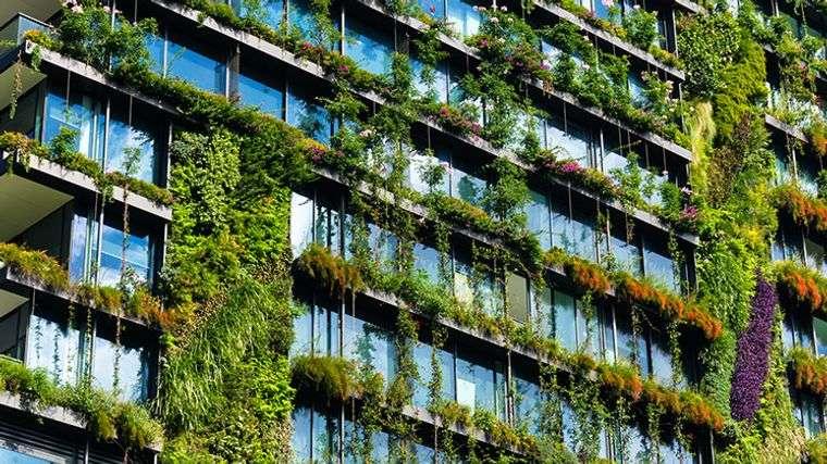 edificios ecológicos one central park vegetacion