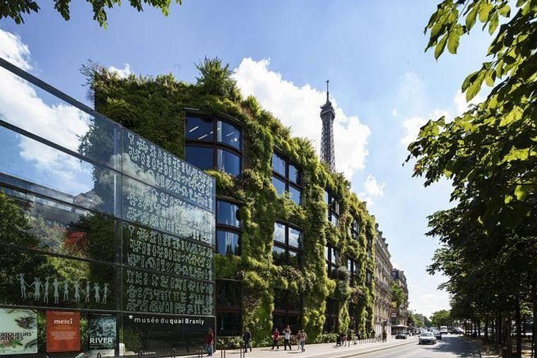 edificios ecológicos quai branly paris