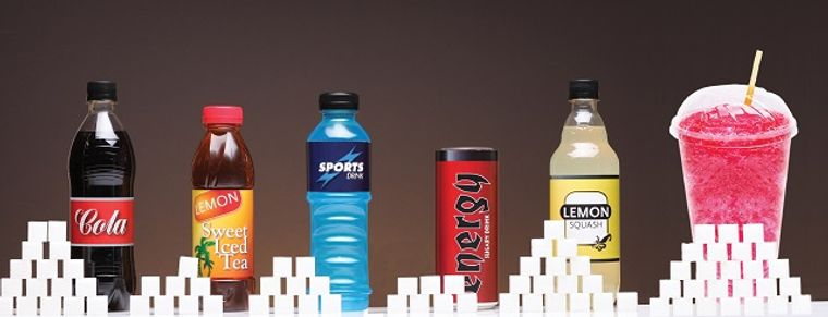 el azúcar en bebidas