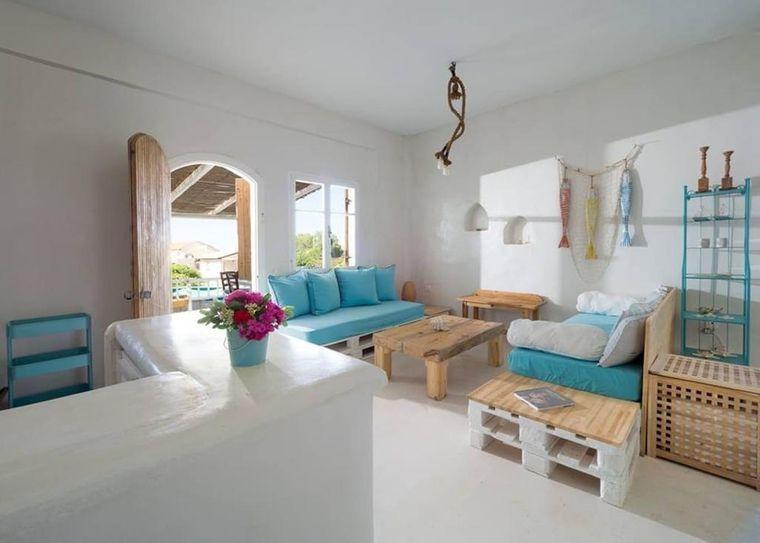 estilo mediterráneo azul blanco