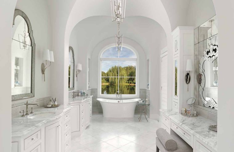 estilo mediterráneo baño moderno