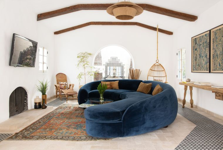 estilo mediterráneo moderno hogar