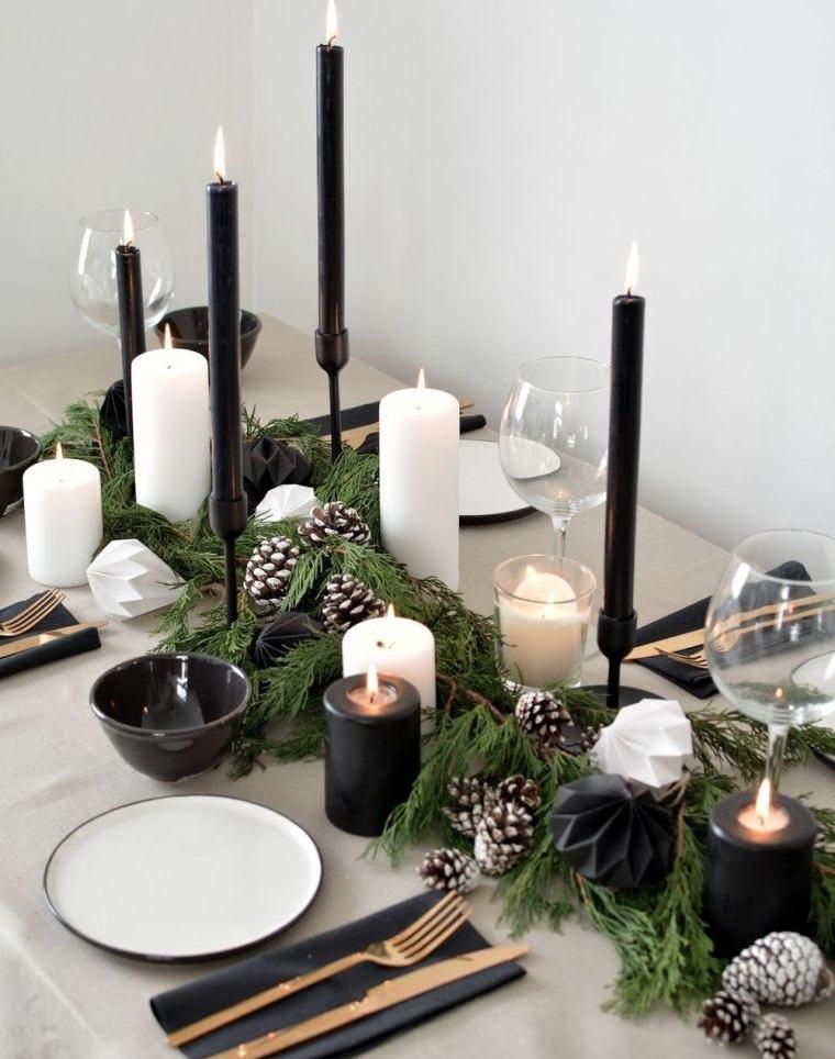 ideas-creativas camino de mesa con velas