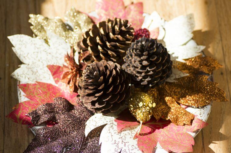 ideas creativas hojas pintadas otoño