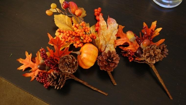 ideas creativas pequeños ramitos otoñoo