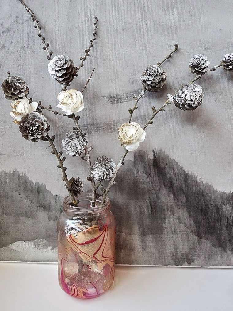 ideas creativas piñas con rosas