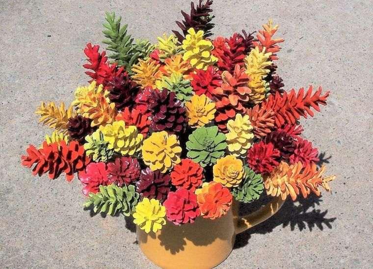 ideas creativas piñas de colores