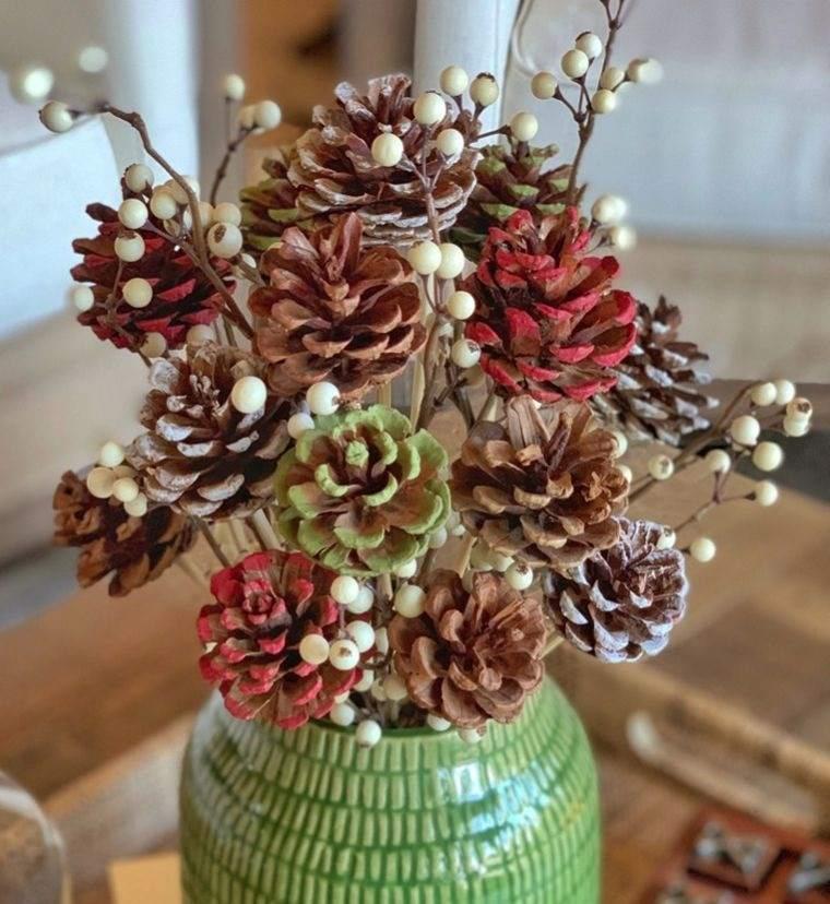ideas creativas piñas en florero