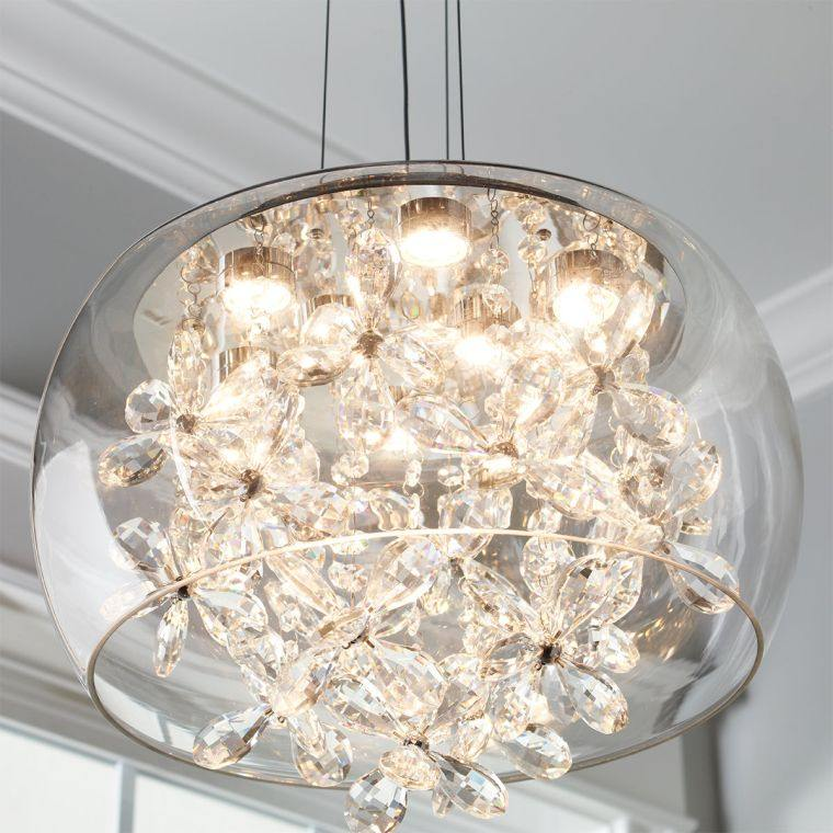 iluminación led esfera vidrio